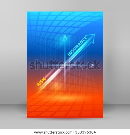 Business corporate template vector illustration EPS 10. Abstract background for chart process service your company, for stages new business: investment, implementation, manufacturing, financial risk - stock vector