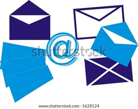 Business correspondence - stock vector