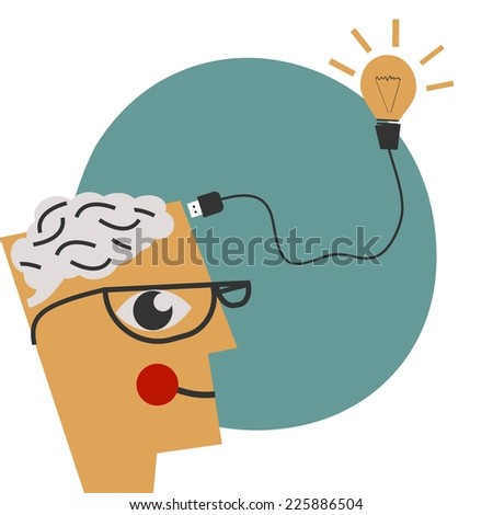 Business creativity concept - stock vector