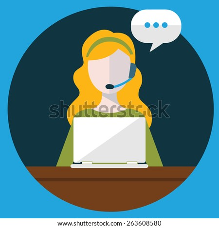 Business customer care service concept flat icons set of contact us support help desk phone call and website click for infographics design web elements vector illustration. - stock vector