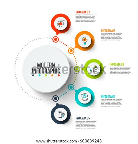 Business data visualization process chart abstract stock vector process chart abstract elements of graph diagram with 5 steps ccuart Images