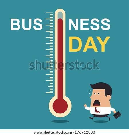 Business Day, Business Concept - stock vector