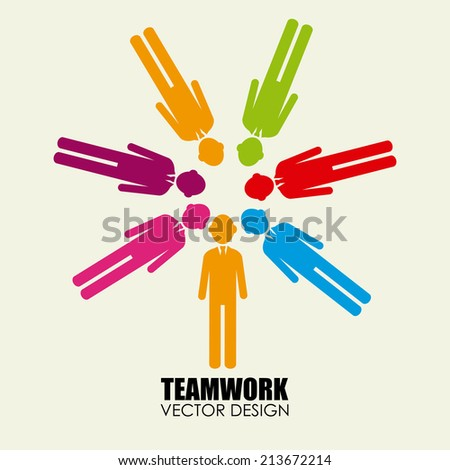 Business design over beige background, vector illustration