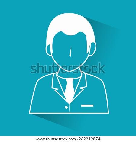 Business design over blue background, vector illustration. - stock vector