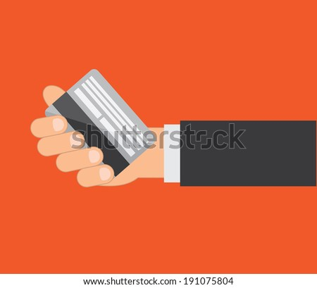 Business design over red background, vector illustration