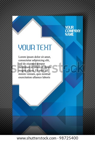 Business design template. Vector. - stock vector