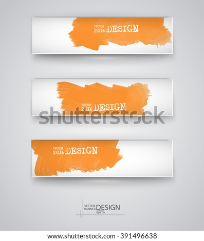 Business design templates. Set of Banners with Colored Backgrounds. Paint Abstract Modern Decoration. Vector Illustration. - stock vector