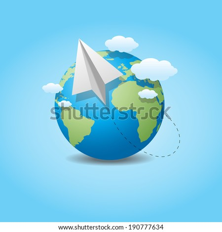 Business development success.  Globe World Logistics - stock vector