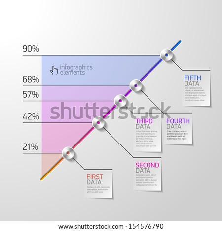 Business diagram infographics element. Vector. - stock vector