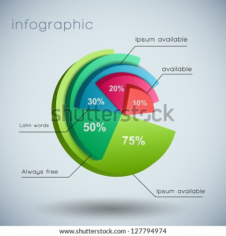 Business diagram template with text fields. Vector Illustration, contains transparencies. - stock vector