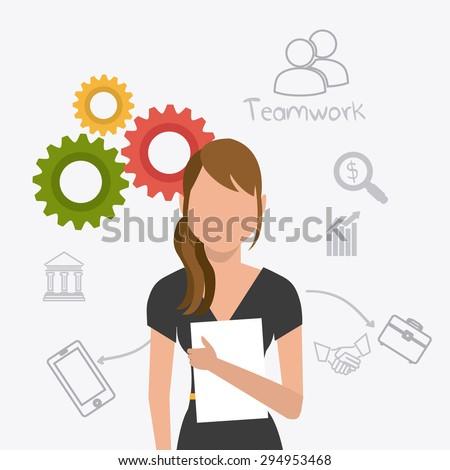 Business digital design, vector illustration eps 10. - stock vector