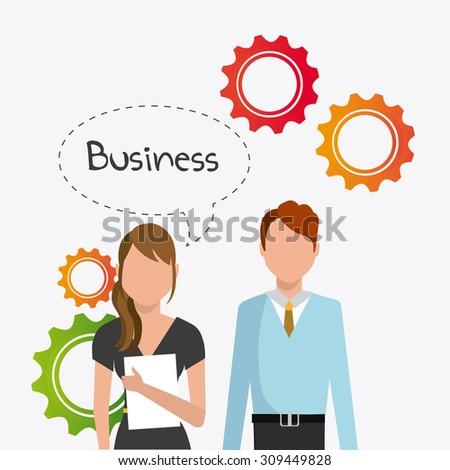 Business digital design, vector illustration, eps 10. - stock vector
