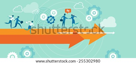 Business direction illustration vector - stock vector