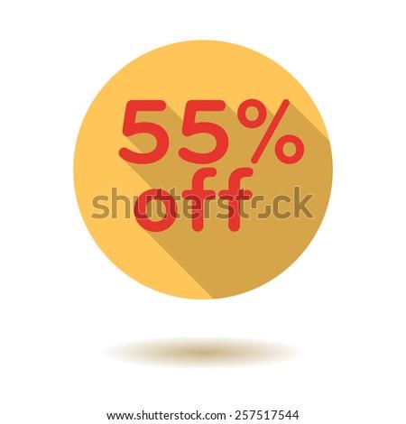 Business discount shopping vector flat design icon - stock vector
