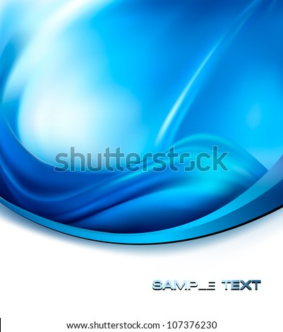 Business elegant blue abstract background. Vector illustration - stock vector