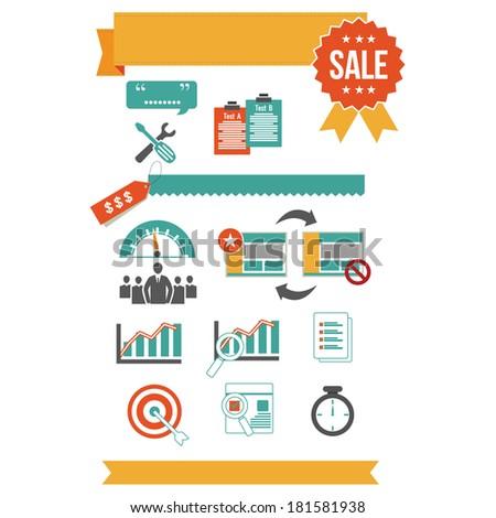 business elements - stock vector