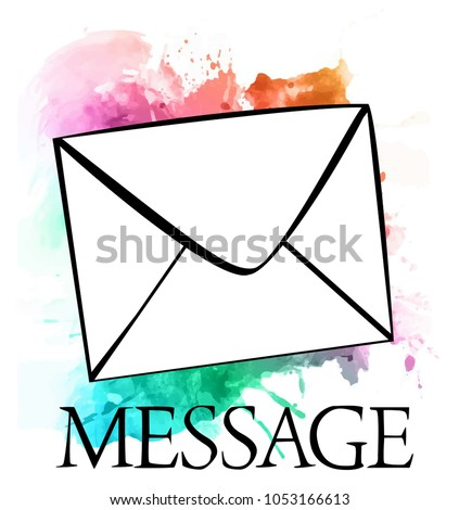 Business Envelope Icon Word Message On Stock Vector 1053166613