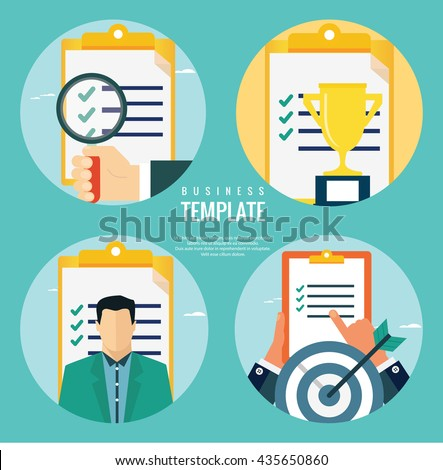 Business evaluation concepts - stock vector