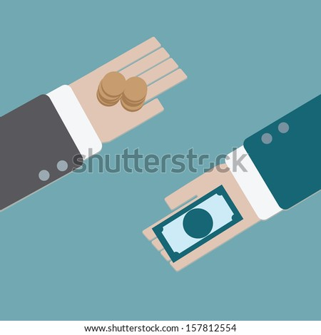Business exchange. - stock vector