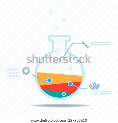 Business experiment, Colorful vector design for workflow layout, diagram, number options, web design, presentation template, infographics. - stock vector
