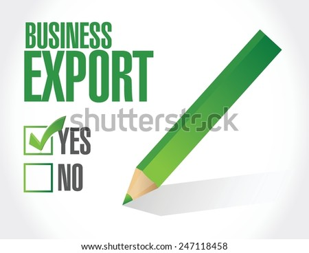 business export check list illustration design over a white background