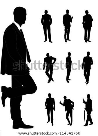 Business fashionable men - stock vector
