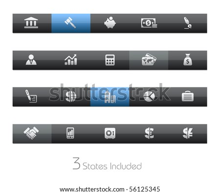 Business & Finance // Blackbar Series +++ It includes 3 buttons states in different layers. +++ - stock vector