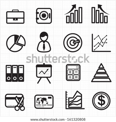 Business finance graph chart icons - stock vector