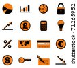 business finance icon set - stock vector