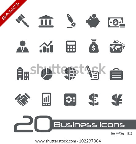 Business & Finance Icons // Basics - stock vector