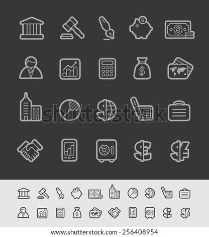 Business & Finance Icons // Black Line Series -- EPS 10+ Contain Transparencies - stock vector