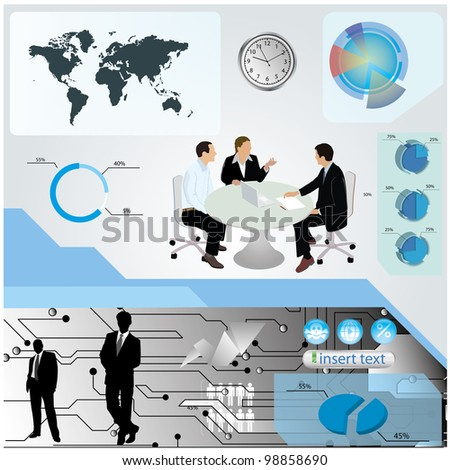 business, finance, negotiation, - stock vector