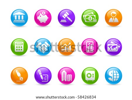 Business & Finance // Rainbow Series - stock vector