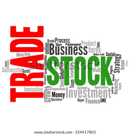 Business & finance related word cloud background