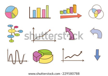 business finance statistics infographics elements Object - stock vector