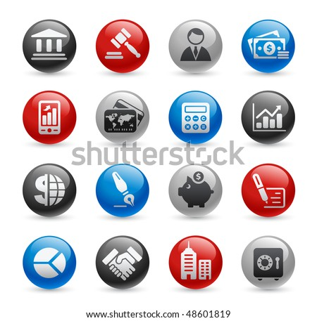 Business & Finance Web Icons // Gel Pro Series - stock vector