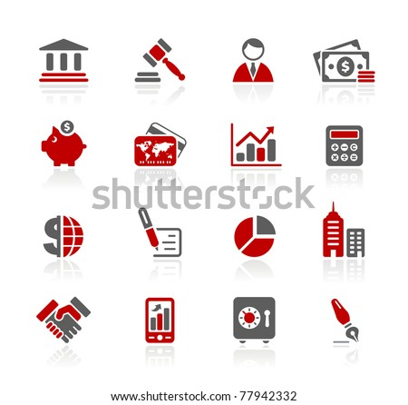 Business & Finance Web Icons // Redico Series - stock vector