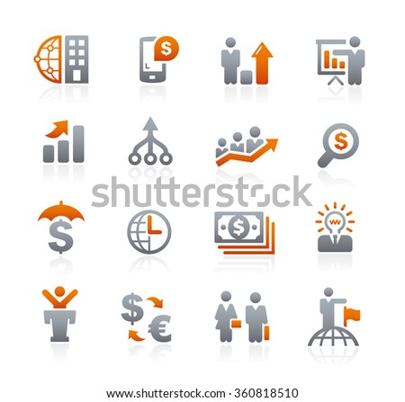 Business Financial // Graphite Series - stock vector