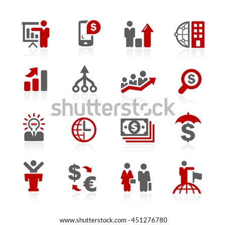 Business Financial Icons - stock vector