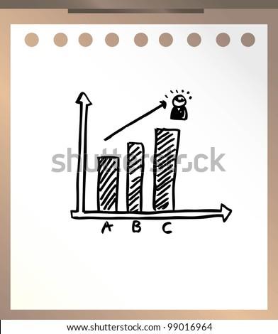 business financial report - stock vector
