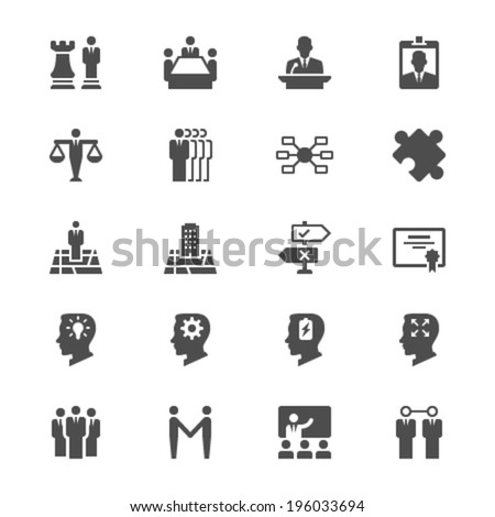 Business flat icons - stock vector