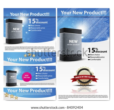business  flayer. Set for product registration. web 2.0 EPS10 vector - stock vector