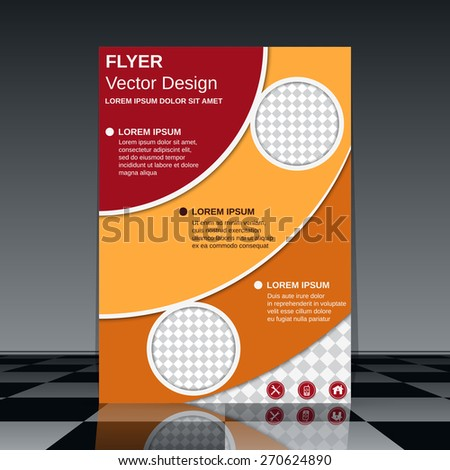 Business flyer abstract design. Brochure cover, poster, booklet vector template. - stock vector