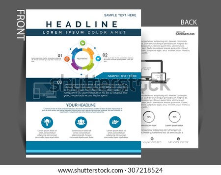 Business flyer, brochure and magazine cover design. vector eps10 - stock vector