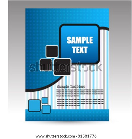 business flyer design - stock vector