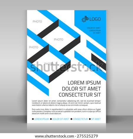 Business flyer design poster template vector stock vector 275525279 business flyer design poster template vector layout with blue diagonal elements sectors for flashek Image collections