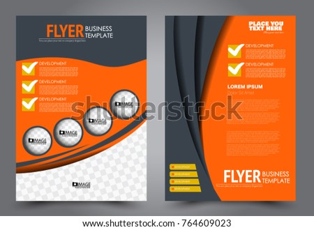 Business Flyer Design Template Abstract Vector Stock Vector Hd