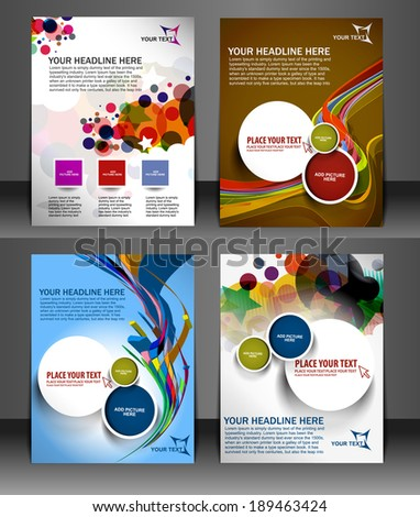 Business Flyer Magazine Cover & Poster Template.  - stock vector