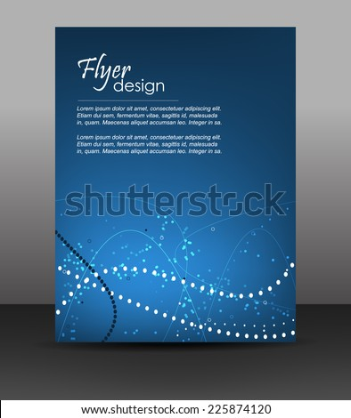Business flyer template, corporate banner brochure or cover design with shiny effect in dark blue color/design with place for your content or creative editing/vector illustration - stock vector