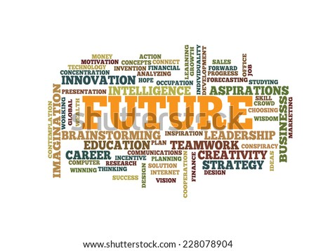 business future concept word cloud - stock vector